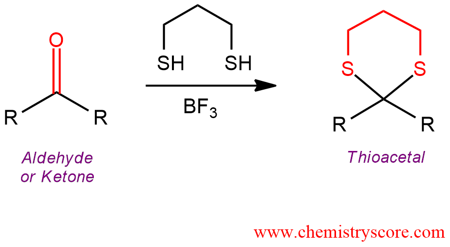 Thioacetal Formation Definition: