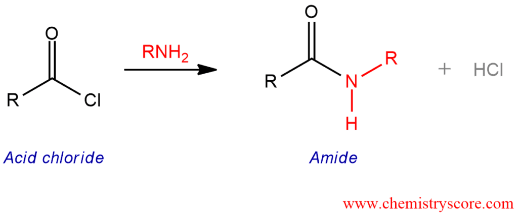 Amide Formation from Acid Halides - ChemistryScore