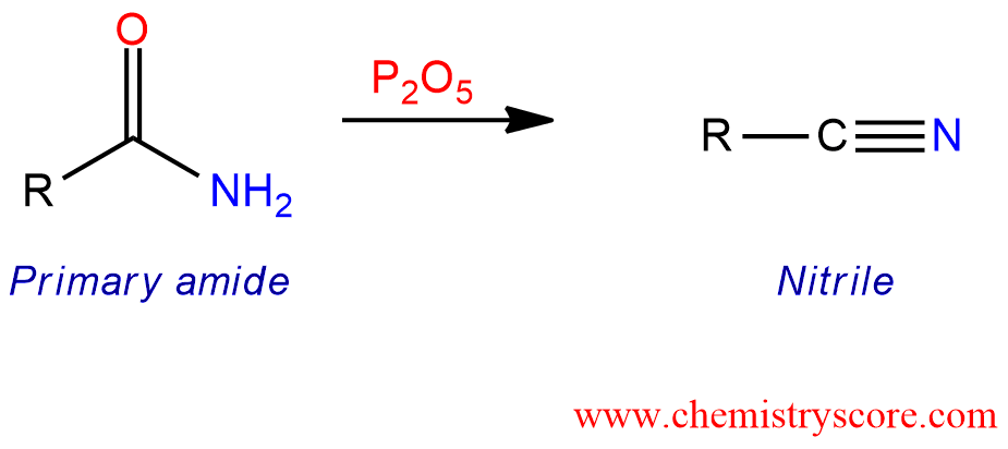 Dehydration of amides to nitriles [P2O5] - ChemistryScore