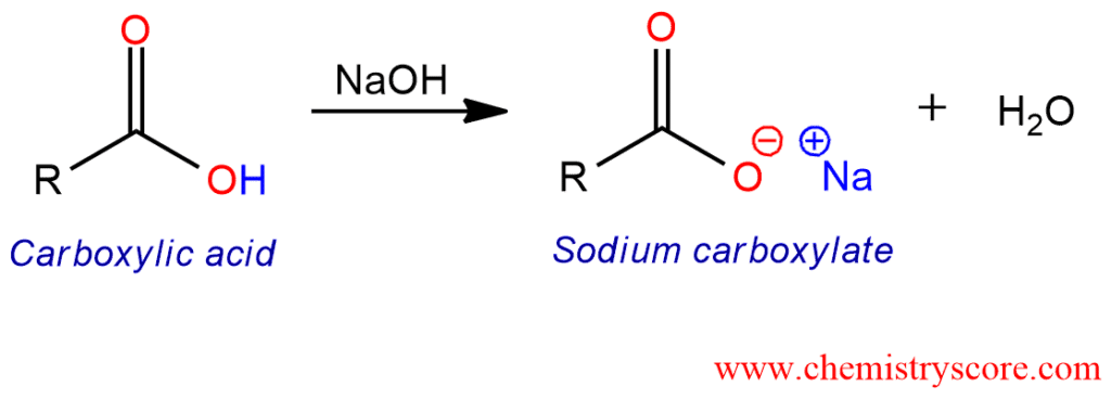 Deprotonation [carboxylate Formation] Definition:
