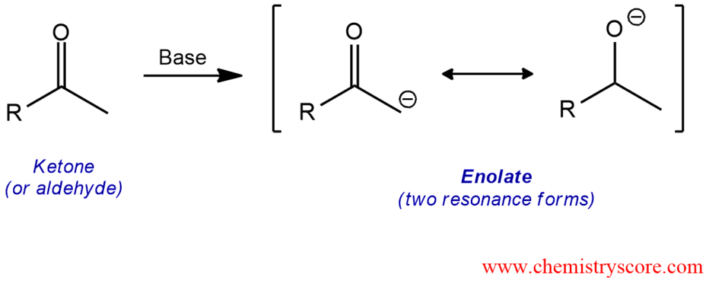 Enolate formation
