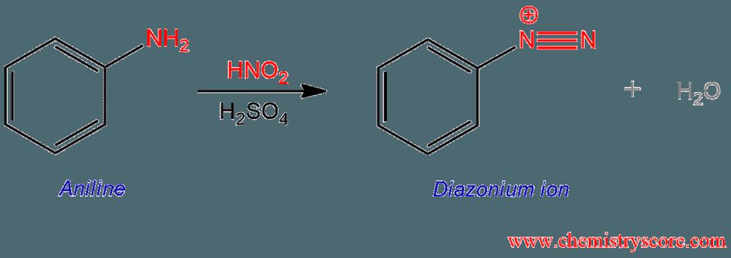 Formation of Diazonium Salts - ChemistryScore