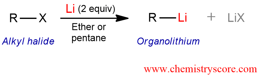 Superior Formation Of The Organolithium Reagents Definition: