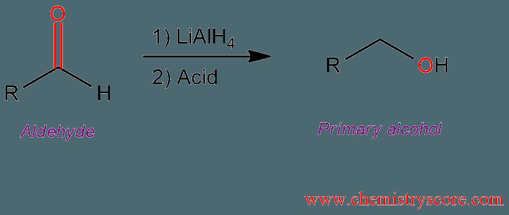 Reduction Of Aldehydes  Lialh4