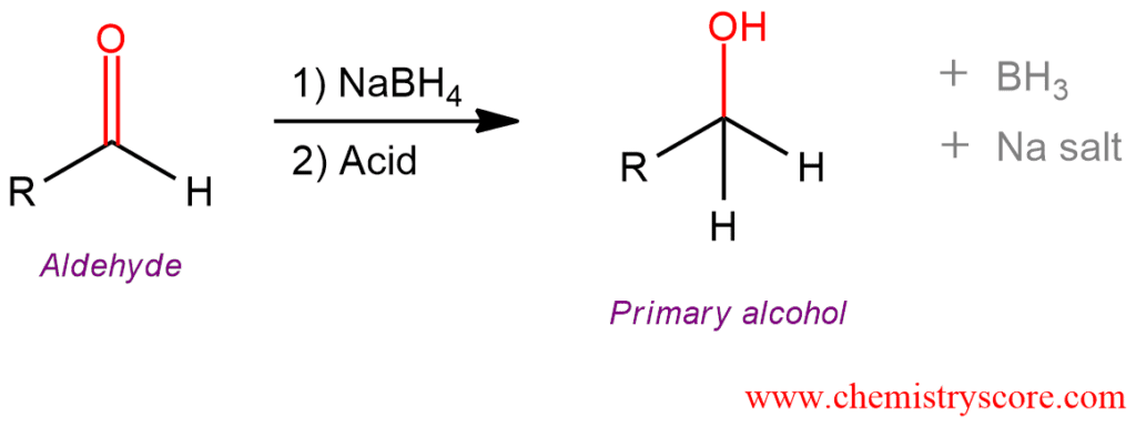 Reduction Of Aldehydes  Nabh4